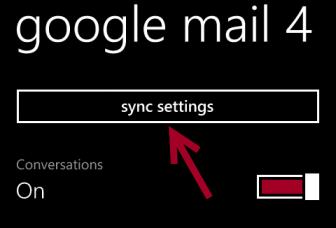 windows phone 8 sync settings