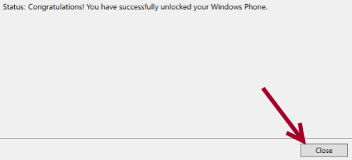 close windows phone developer registration