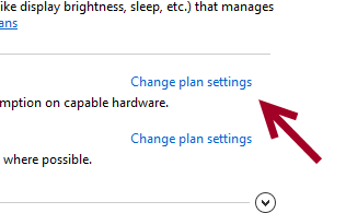 change windows 8 power plan settings