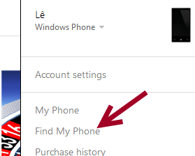 windows phone 8 find my phone website