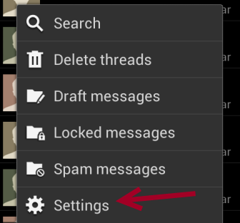 android messaging settings