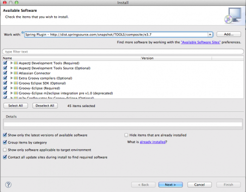 How to Install Spring Plugin in Eclipse