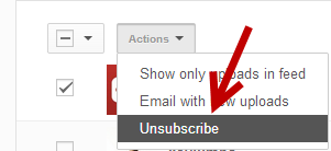 YouTube bulk unsubscribe