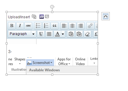 office 2013 captured screenshot