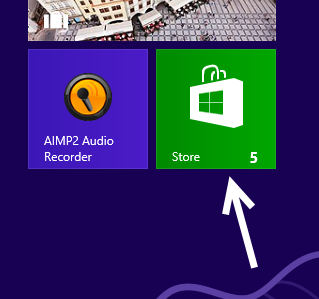 open windows 8 store