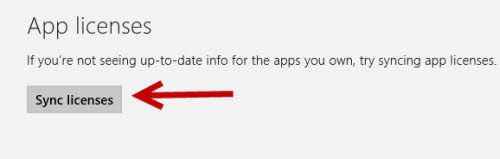 windows 8 sync licenses