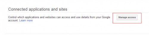 Google Manage access