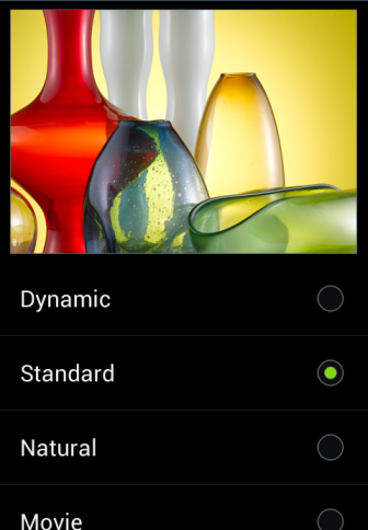 android screen mode option