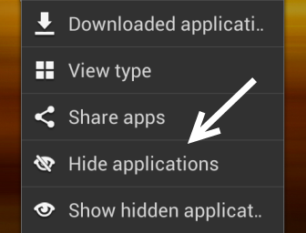 android drawer hide app