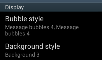 change messaging app bubble and background style