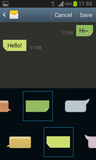 Samsung Android: Customize Messaging App Theme