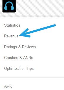 see revenue of a single android app