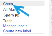 gmail chat label