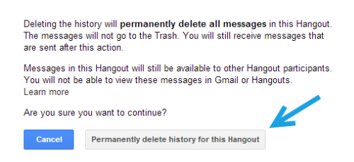 Google Hangouts: Turn Off and Delete Chat History
