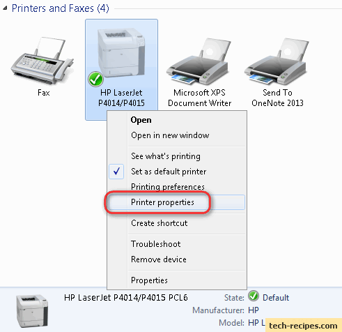 how to know printer ip address