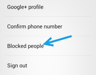 google hangouts blocked people