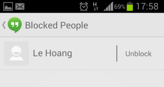 google hangouts unlock person