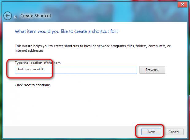 Windows 8: Create a Shortcut for Shutdown and Restart