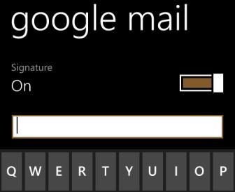 windows phone 8 edit email signature