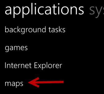 windows phone 8 applications settings
