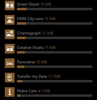 windows phone 8 storage detail