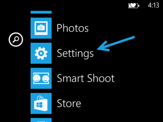 windows phone 8 settings