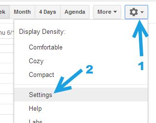 Google Calendar Settings