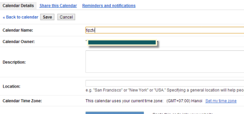 Change Google Calendar Settings