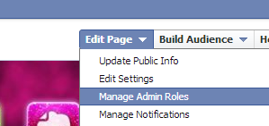 facebook page manage admin roles