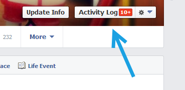 facebook activity log
