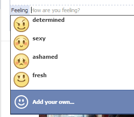 facebook custom emotion list