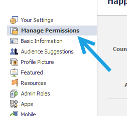 facebook page manage permissions