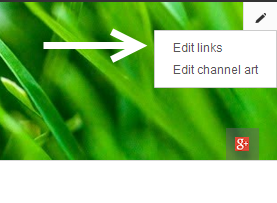 edit youtube channel banner links