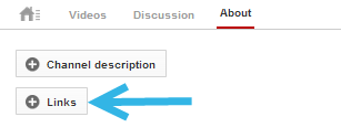 add links to youtube channel banner