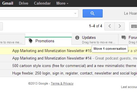 move conversation between tabs in gmail