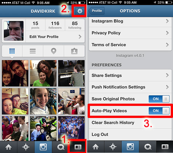 disable instagram video