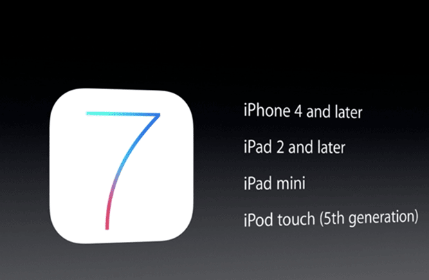devices that can run ios 7