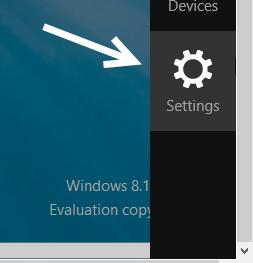windows 8.1 settings
