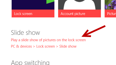 windows 8.1 lock screen slide show