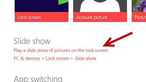 windows 8.1 lock screen slide show