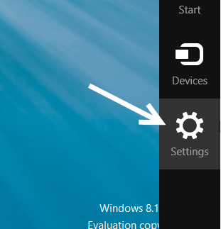 windows 8.1 charm bar settings