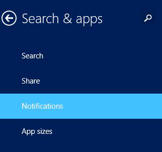 windows 8.1 notifications settings
