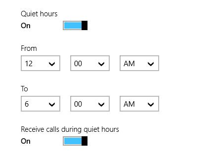 windows 8.1 quite hours