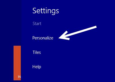 windows 8.1 personalize