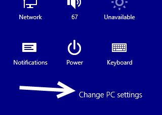 windows 8.1 change pc settings