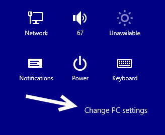 windows 8.1 change pc settings