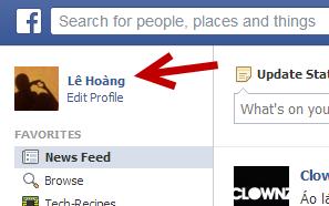 facebook user page