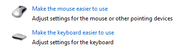 mouse and keyboard ease of access