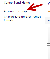 advanced language settings in windows 8