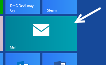 windows 8 start screen mail tile